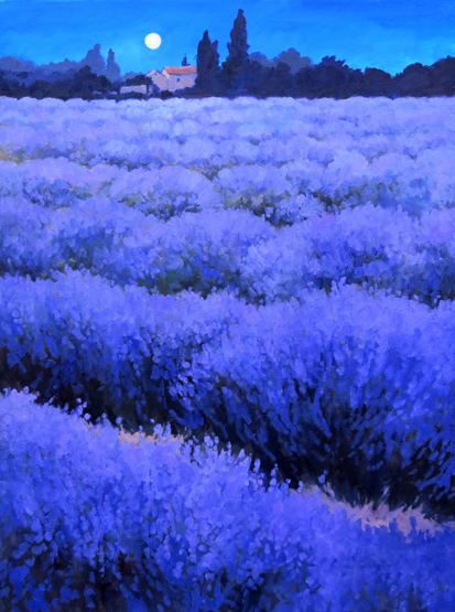 Night Lavender, measures 30ins by 24ins.