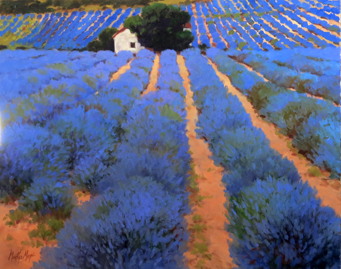 Lavender Rows, measures 24ins by 30ins.