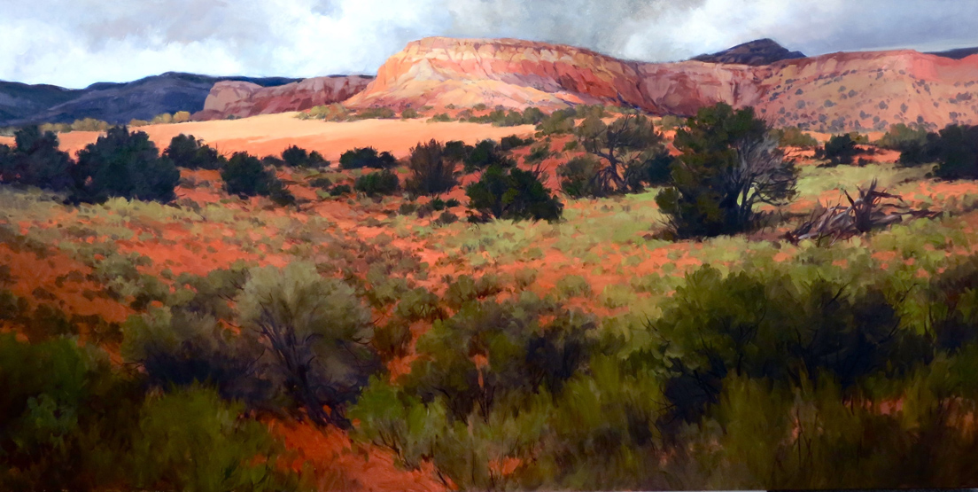Ghost Ranch, measures 30ins by 60ins.